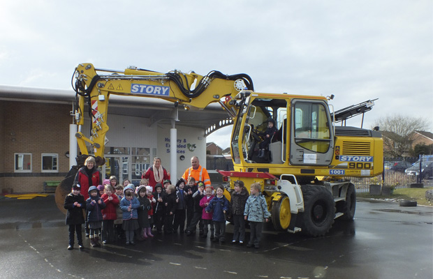 Kingmoor Infant School Gets A Visit