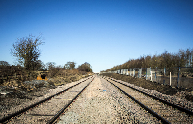 Track completion marks another significant milestone for Britain's newest train factory