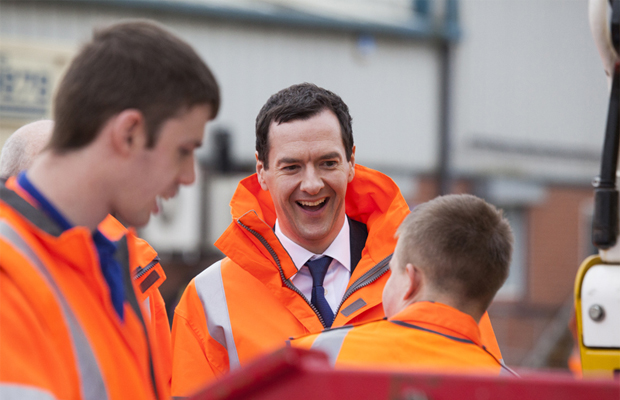 Chancellor George Osborne visits Story Contracting