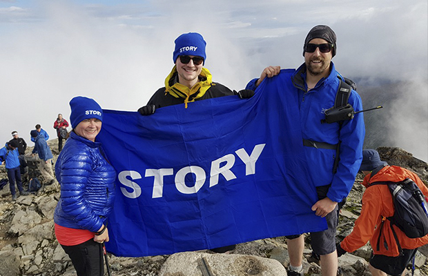 Story scale 3 highest peaks for charity