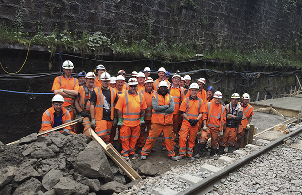 Queen Street Tunnel Slab Track works completed five days early