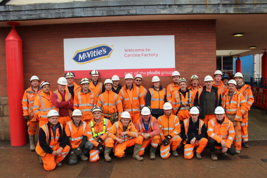 Flood resilience target achieved at McVitie's
