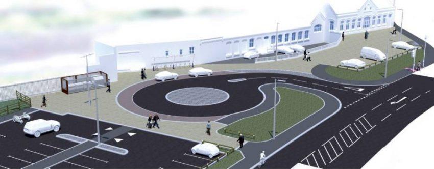 Artist impression of Workington's new rail transport hub
