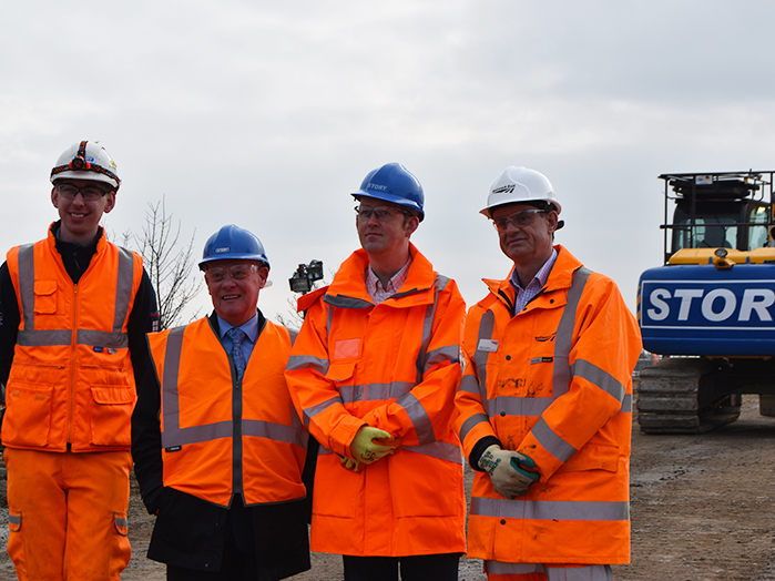 MP visit to Plymouth Road Bridge Blackpool