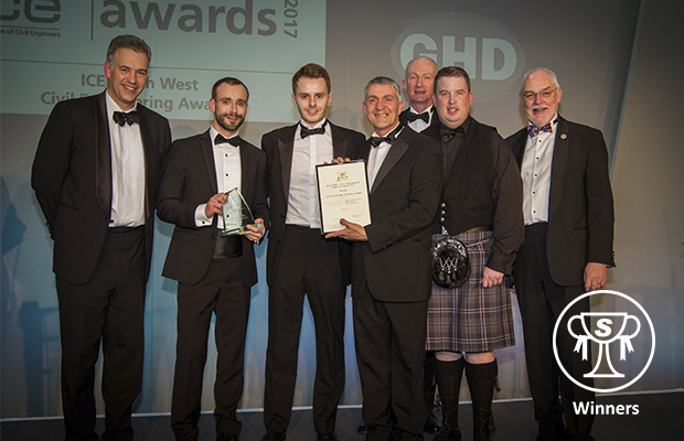 Currock Bridge wins 'Best Community Project' at Civil Engineering Awards