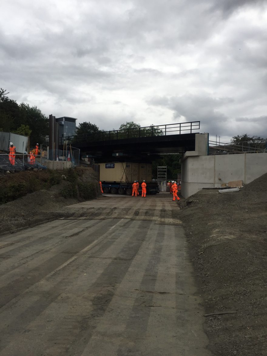 Tyne and Wear Metro's new bridge is installed at Killingworth Road