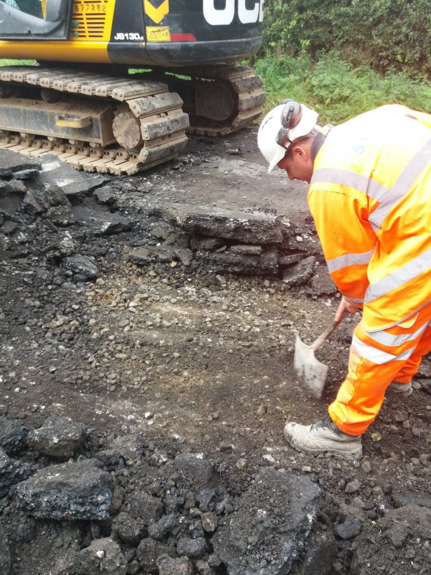 Construction team complete carriageway works at Parsonby