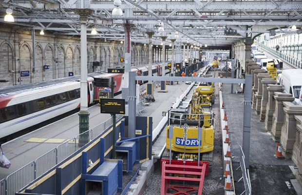Story to deliver works at Edinburgh Waverley