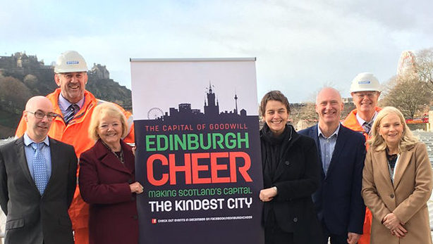 Story Contracting takes part in 'Edinburgh Cheer' charity campaign