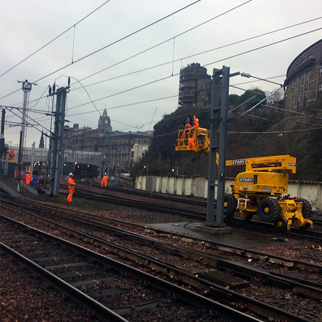 Edinburgh Waverley Christmas works