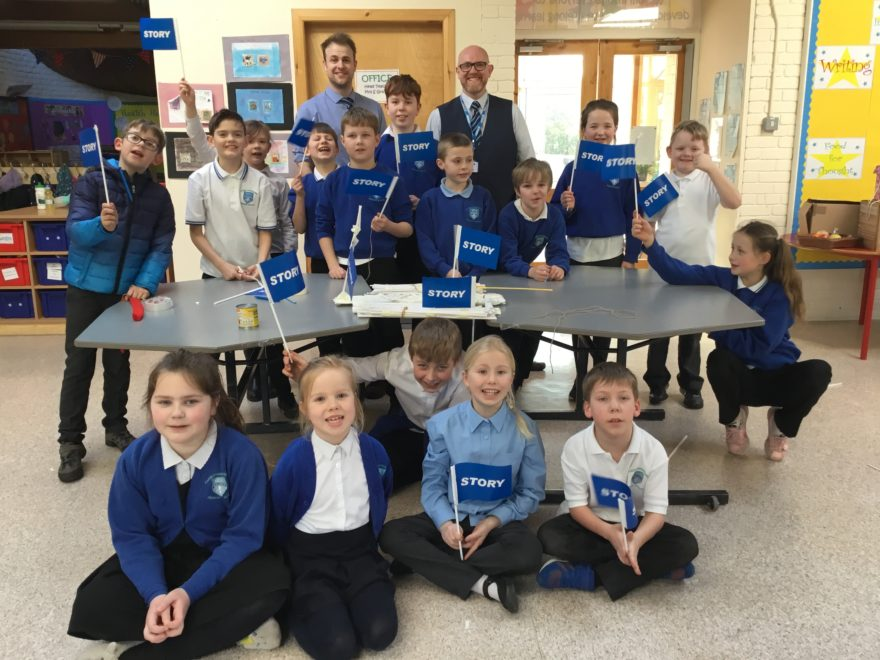 Team Story go back to school to inspire engineers of the future