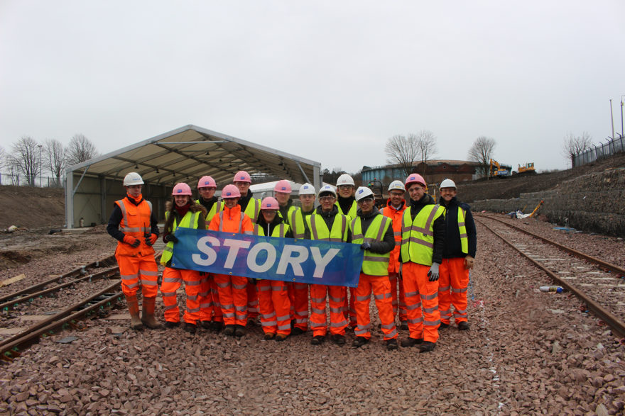 Story Contracting welcomes Heriot Watt students to Glasgow site