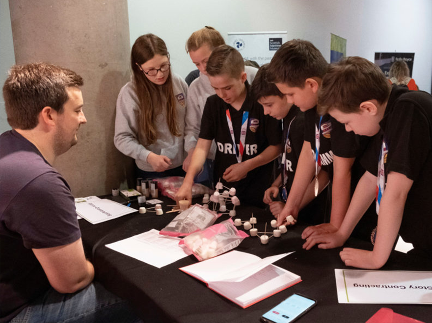 Team Story inspire Scotland's future Young Scientists and Engineers
