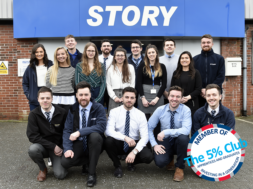 Story Contracting invests in the next generation by joining The 5% Club