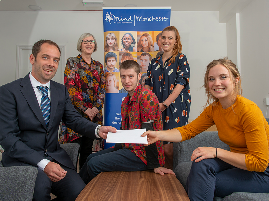 Story Contracting donates £1,000 to Manchester Mind