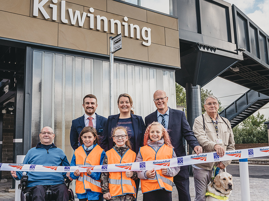 Accessibility at Kilwinning Station given a lift