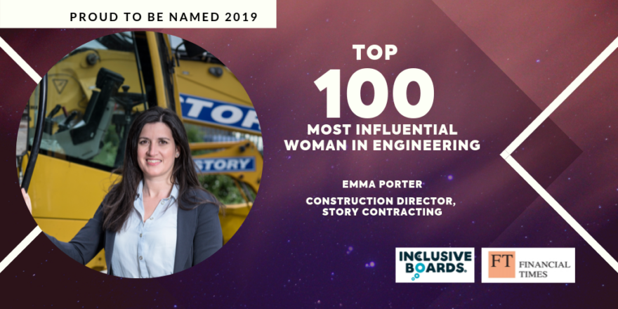 Emma Porter recognised as one of the 100 Most Influential Women in Engineering