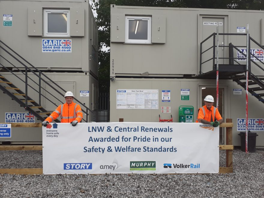 Safety banner awarded to Shugborough Tunnel works