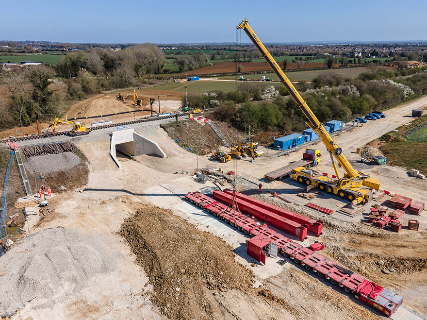 Underpasses built under Bicester railway this Easter