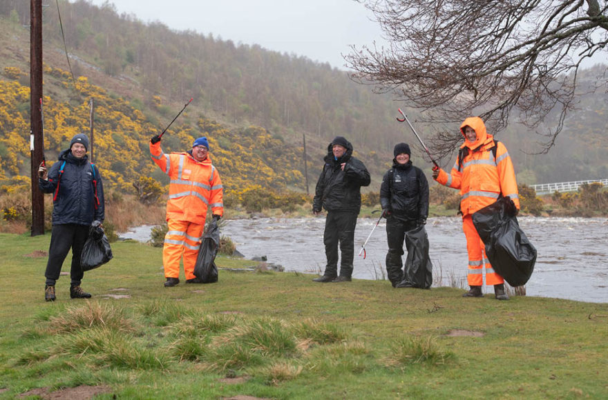 Story Contracting take part in Northumberland National Park litter pick