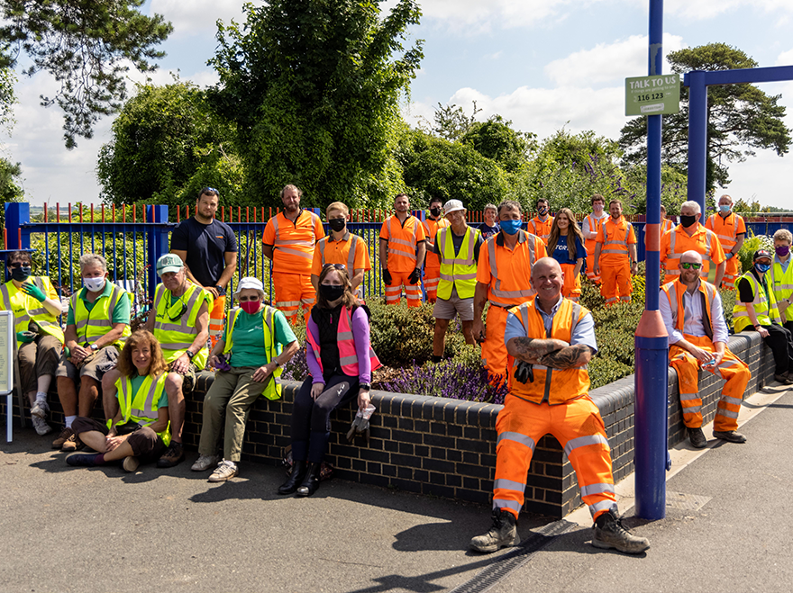 Story help Bicester North Station bloom
