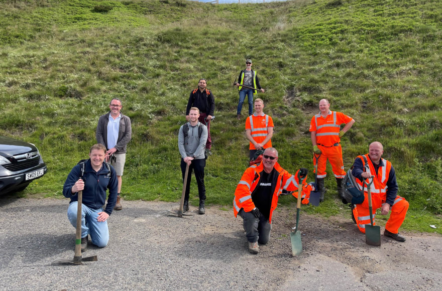 First volunteering hours logged on the Hope Valley Capacity Scheme